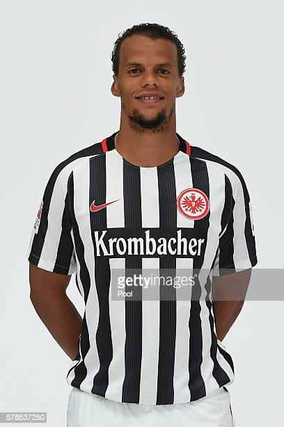 Timothy Chandler poses during the Eintracht Frankfurt Team Presentation on July 21 2016 in Frankfurt am Main Germany