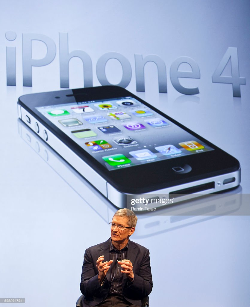 Timothy Cook Chief Operating Officer of Apple Inc speaks during an news conference to announce that Verizon will start selling iPhone in New York...