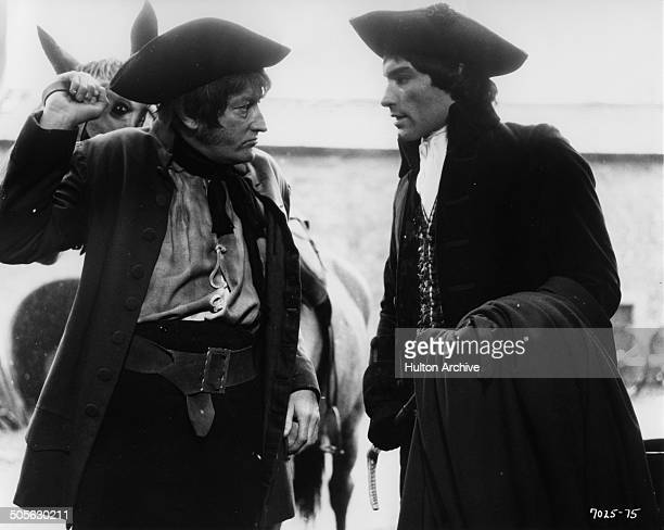 Timothy Dalton as Heathcliff is greeted by Aubrey Woods in the movie 'Wuthering Heights' circa 1970