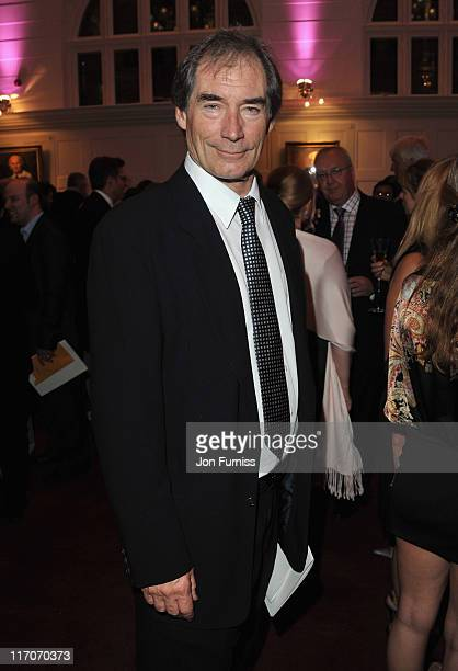 Timothy Dalton attends the John Barry Memorial Concert after party at the Royal College of Music on June 20 2011 in London England