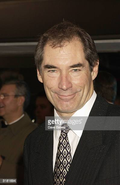 Timothy Dalton attends the 'Master and Commander The Far Side Of The World' premiere at the Odeon Leicester Square on November 17 2003 in London