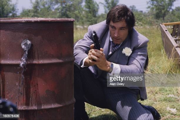 Timothy Dalton in a scene from the James Bond 007 movie 'Licence to Kill' filmed partly in the Florida Keys in 1988 It was Dalton's second outing as...