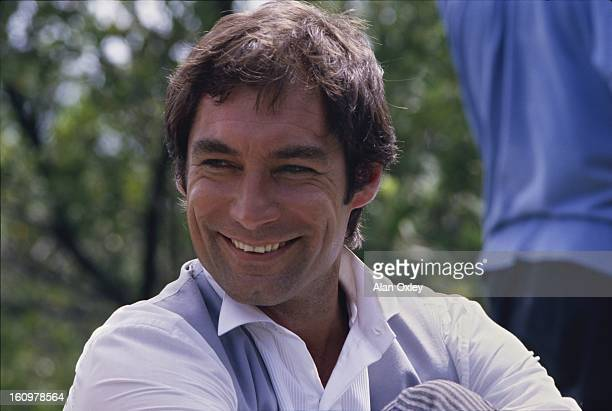 Timothy Dalton on location in the Florida Keys for the filming of the James Bond 007 movie 'Licence to Kill' in 1988 It was Dalton's second outing as...