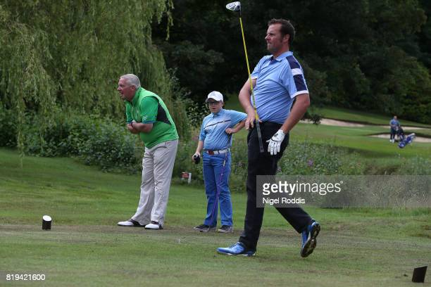 Timothy Dykes of Penrith Golf Club and Simon Edwards of Windermere Golf Club during the Golfbreakscom PGA Fourball Championship North Qualifier at...