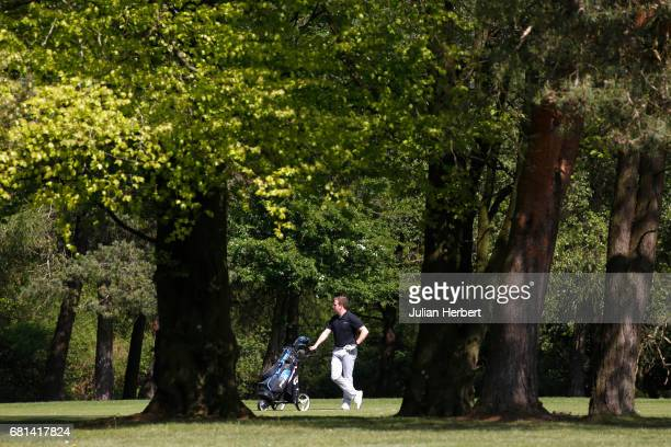 Timothy Elliott of Tall Pines Golf Club waits on a fairway during the PGA Assistants Championship South West Qualifier at Bristol and Clifton Golf...