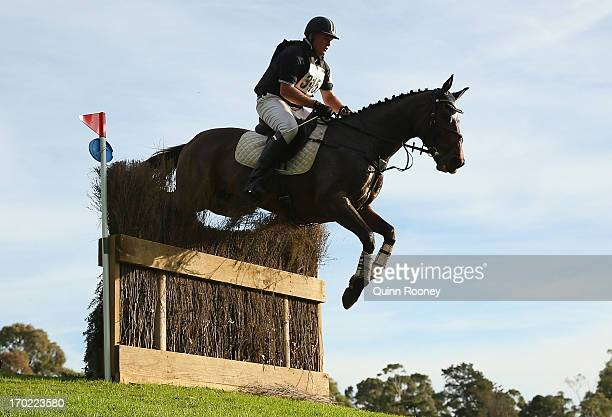 Timothy Ellis of Australia riding Ellison Park Benson competes in the Cross Country during the Melbourne International Three Day Event at Werribee...
