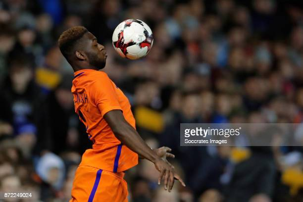 Timothy Fosu Mensah of Holland during the International Friendly match between Scotland v Holland at the Pittodrie Stadium on November 9 2017 in...