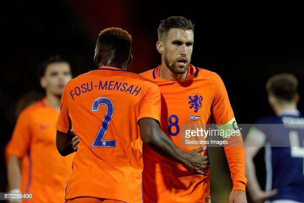 Timothy Fosu Mensah of Holland Kevin Strootman of Holland during the International Friendly match between Scotland v Holland at the Pittodrie Stadium...
