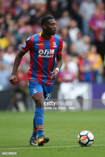 Timothy FosuMensah of Crystal Palace during the Premier League match between Crystal Palace and Huddersfield Town at Selhurst Park on August 12 2017...