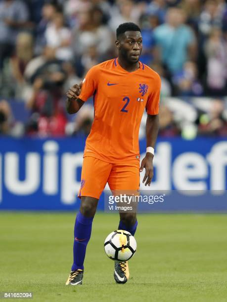 Timothy FosuMensah of Holland during the FIFA World Cup 2018 qualifying match between France and Netherlands on August 31 2017 at Stade de France in...