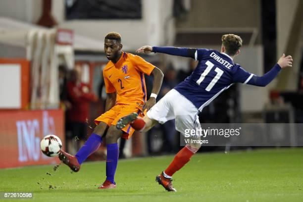Timothy FosuMensah of Holland Ryan Christie of Scotland during the friendly match between Scotland and The Netherlands on November 09 2017 at...