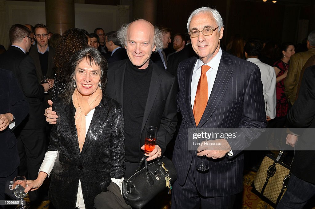 <a gi-track='captionPersonalityLinkClicked' href=/galleries/search?phrase=Timothy+Greenfield-Sanders&family=editorial&specificpeople=1515513 ng-click='$event.stopPropagation()'>Timothy Greenfield-Sanders</a> (C) and guests attend the IFP's 22nd Annual Gotham Independent Film Awards at Cipriani Wall Street on November 26, 2012 in New York City.