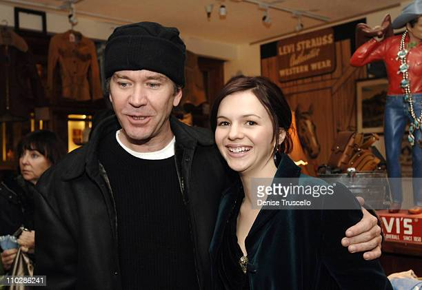Timothy Hutton and Amber Tamblyn at 'Stephanie Daley' Premiere Party at Levi's Dry Goods