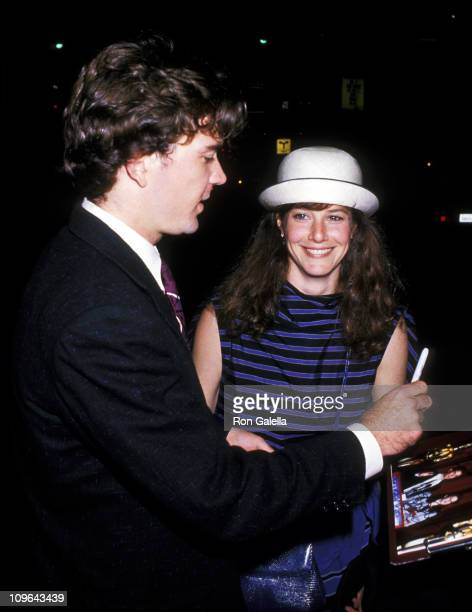 Timothy Hutton and Debra Winger during Timothy Hutton and Debra Winger Sighting at Spago June 29 1988 at Spago in Hollywood California United States