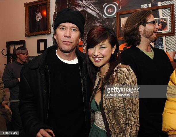 Timothy Hutton and SuChin Pak at 'Stephanie Daley' Premiere Party at Levi's Dry Goods