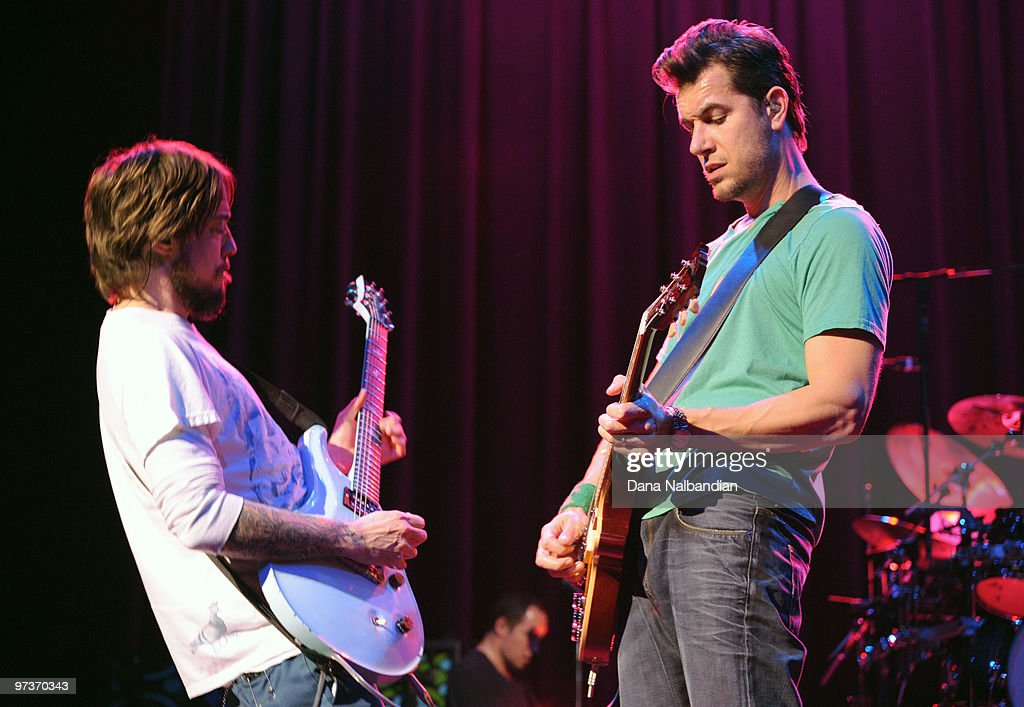 Timothy Mahoney and Nick Hexum (R) of 311 perform at The Moore Theater on March 1, 2010 in Seattle, Washington.