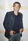 Timothy Olyphant arrives at The Television Academy presents An Evening with 'Justified' held at Leonard H Goldenson Theatre on March 19 2014 in North...