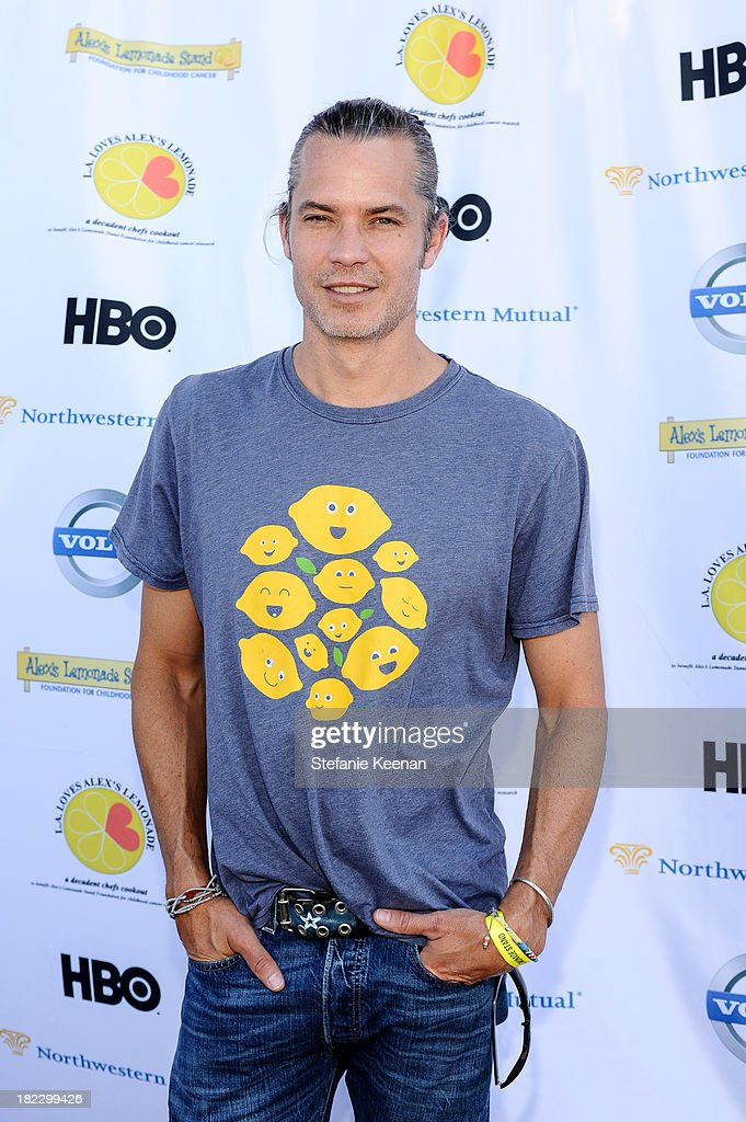 <a gi-track='captionPersonalityLinkClicked' href=/galleries/search?phrase=Timothy+Olyphant&family=editorial&specificpeople=589275 ng-click='$event.stopPropagation()'>Timothy Olyphant</a> attends LA Loves Alex's Lemonade event at Culver Studios on September 28, 2013 in Culver City, California.