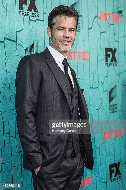 Timothy Olyphant attends the Premiere Of FX's 'Justified' Series Finale at ArcLight Cinemas Cinerama Dome on April 13 2015 in Hollywood California