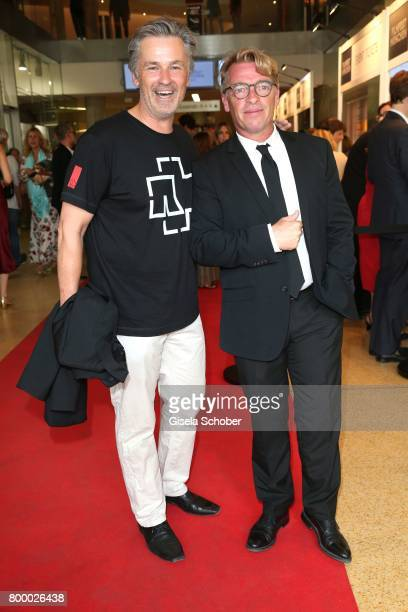 Timothy Peach and Andre Eisermann during the opening night of the Munich Film Festival 2017 at Mathaeser Filmpalast on June 22 2017 in Munich Germany