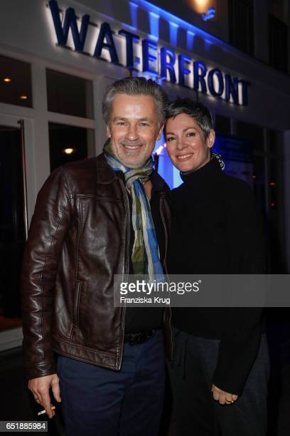 Timothy Peach and Cheryl Shepard attend the 'Baltic Lights' charity event on March 10 2017 in Heringsdorf Germany Every year German actor Till...