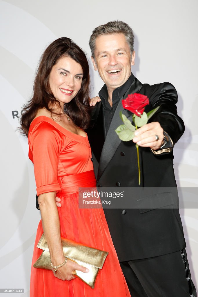 Timothy Peach and Nicola Tiggeler attend the Rosenball 2014 on May 31, 2014 in Berlin, Germany.
