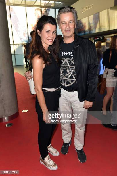 Timothy Peach and Nicola Tiggeler during the 'Das Pubertier' Premiere at Mathaeser Filmpalast on July 4 2017 in Munich Germany