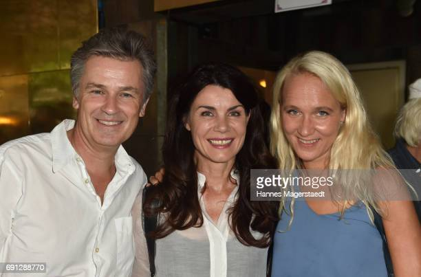 Timothy Peach Nicola Tiggeler and Annik Wecker during Konstantin Wecker's 70th birthday at Circus Krone on June 1 2017 in Munich Germany