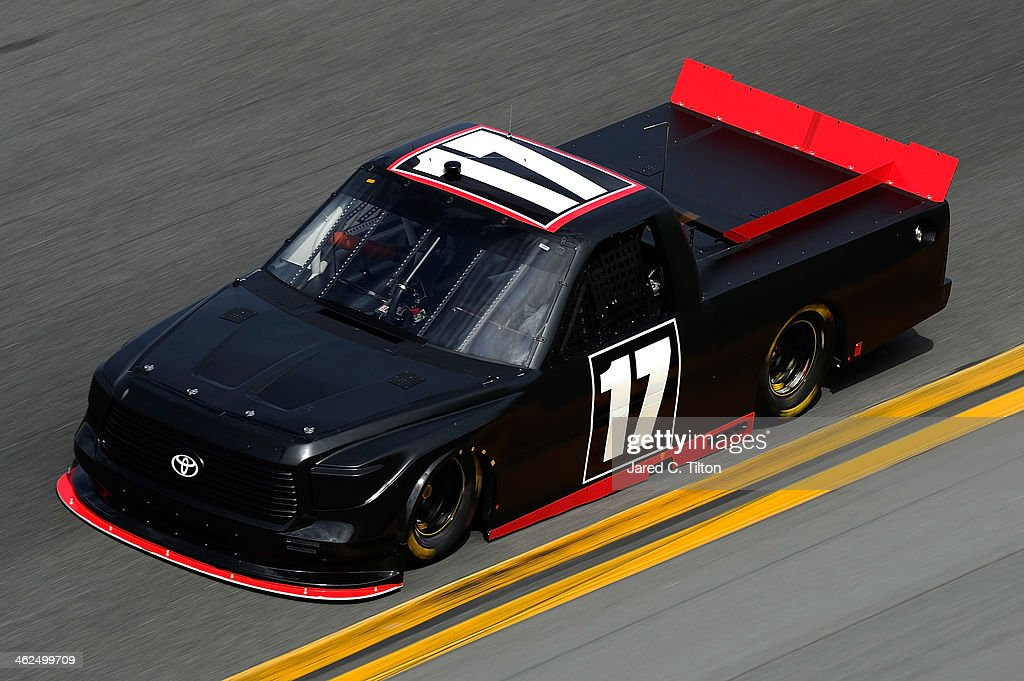 Timothy Peters drives the #17 Red Horse Racing Toyota during NASCAR Preseason Thunder at Daytona International Speedway on January 13, 2014 in Daytona Beach, Florida.