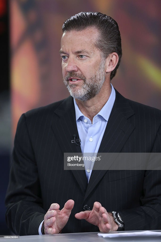 Timothy Richards, chief executive officer of Vue Entertainment Ltd., gestures during a Bloomberg Television interview in London, U.K. on Friday, May 17, 2013. Vue Entertainment bought Poland's second- largest cinema chain from Warsaw-based Grupa ITI and Area Property Partners for undisclosed sum, according to an e-mailed statement released by ITI earlier this week. Photographer: Chris Ratcliffe/Bloomberg via Getty Images