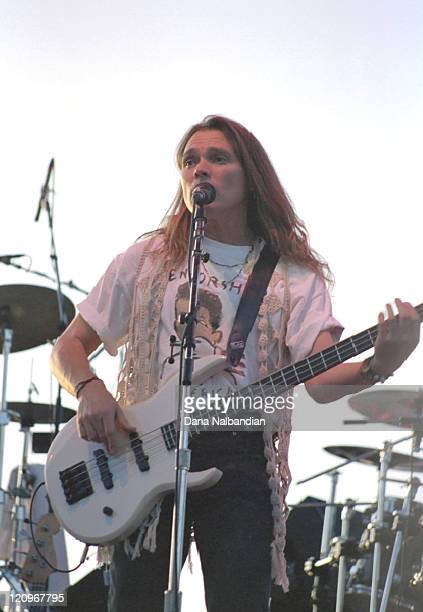 Timothy Schmidit of the Eagles during Gorge in George Music Festival August 2 1992 at The Gorge in George in George Washington United States