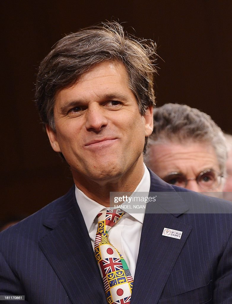 Timothy Shriver attends the Senate Foreign Relations Committee nomination hearing for Caroline Kennedy to be ambassador to Japan in the Hart Senate Office Building on Capitol Hill in Washington, DC on September 19, 2013. AFP PHOTO/Mandel NGAN