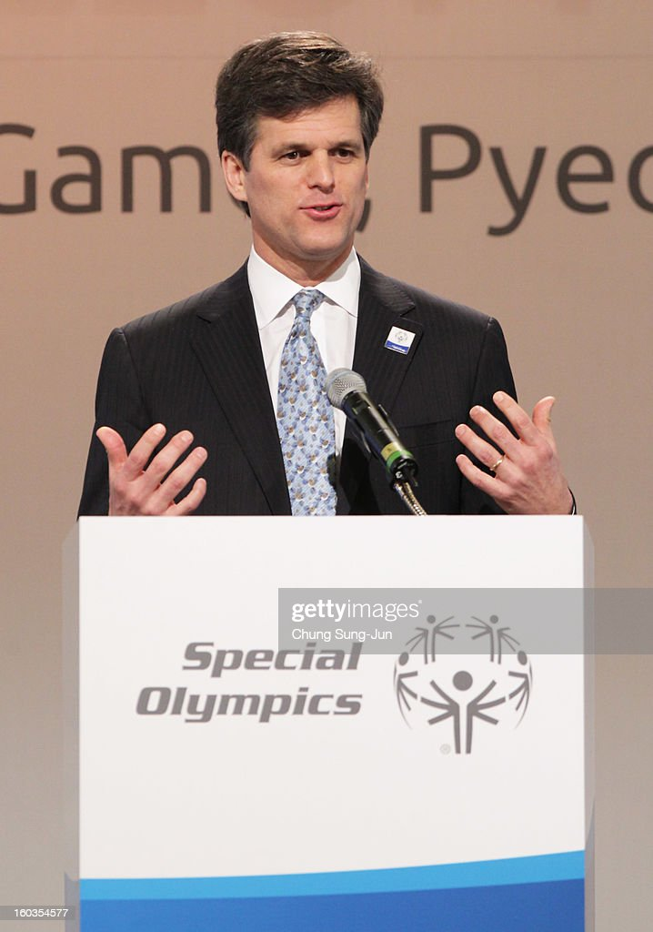 <a gi-track='captionPersonalityLinkClicked' href=/galleries/search?phrase=Timothy+Shriver&family=editorial&specificpeople=757215 ng-click='$event.stopPropagation()'>Timothy Shriver</a>, CEO of Special Olympic attends Global Development Summit on the sideline of the Pyeongchang Special Olympic on January 30, 2013 in Pyeongchang-gun, South Korea. Aung San Suu Kyi, Myanmar's opposition leader and Nobel Peace Prize laureate is on a 5-day tour to South Korea.