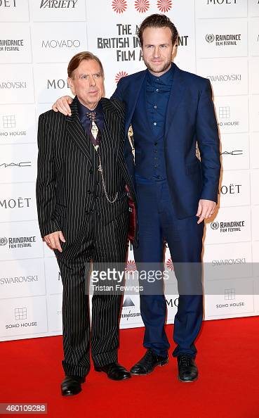 Timothy Spall and Rafe Spall attend The Moet British Independent Film Awards at Old Billingsgate Market on December 7 2014 in London England