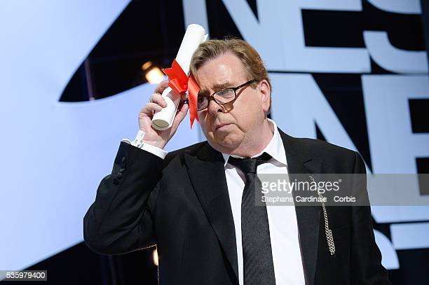 Timothy Spall winner of the Best Actor award for his role in the film 'Mr Turner' at the Closing Ceremony during 67th Cannes Film Festival