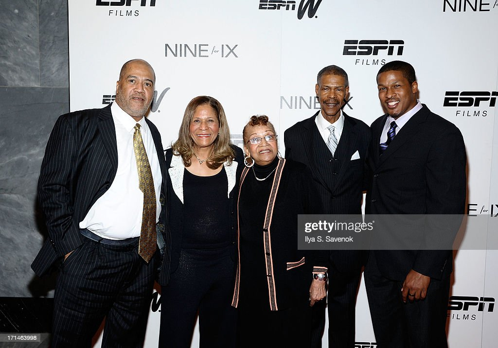 Timothy Stoner, C. Vivian Stringer, Thelma Stoner, Rufus Williams, and Justin Stringer attend 'Venus Vs.' and 'Coach' New York Special Screenings at Paley Center For Media on June 24, 2013 in New York City.