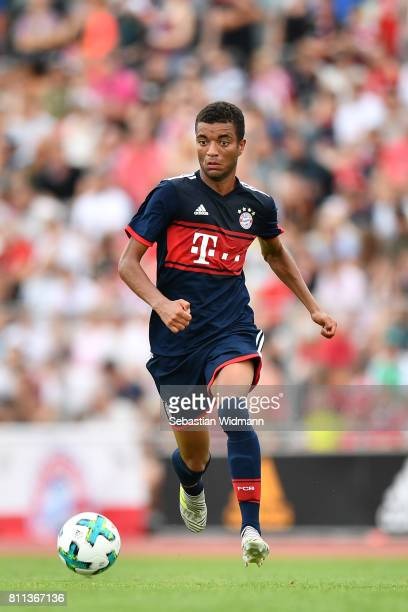 Timothy Tillman of FC Bayern Muenchen plays the ball during the preseason friendly match between FSV ErlangenBruck and Bayern Muenchen at Adi Dassler...