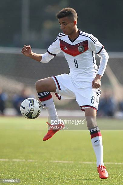 Timothy Tillman of Germany in action during the international friendly match between U16 Italy and U16 Germany on March 18 2015 in Recanati Italy