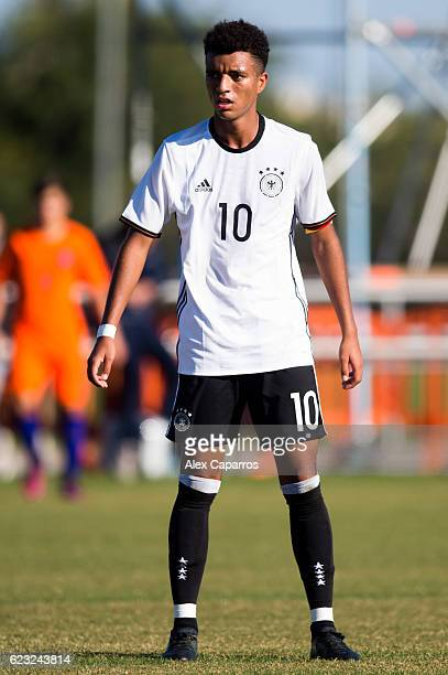 Timothy Tillman of Germany looks on during the U18 international friendly match between Netherlands and Germany on November 14 2016 in Salou Spain