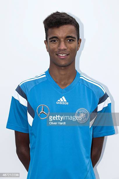 Timothy Tillmann poses during the Germany U17 team presentation on September 7 2015 in Bremen Germany
