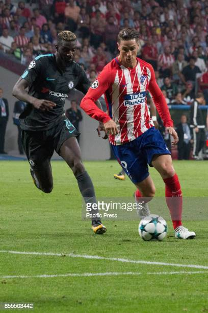 METROPOLITANO MADRID SPAIN Timoue Bakayoko and Fernando Torres Victory in the last seconds of the game for Chelsea by 1 to 2 Griezmann Morata and...