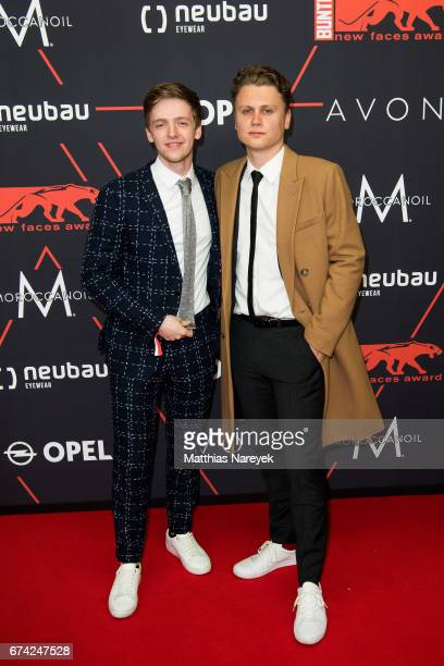 Timur Bartels and guest attend the New Faces Award Film at Haus Ungarn on April 27 2017 in Berlin Germany