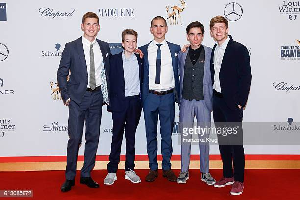 Timur Bartels Tim Oliver Schultz Ivo Kortlang Nick Julius Schuck and Damian Hardung attend the Tribute To Bambi at Station on October 6 2016 in...