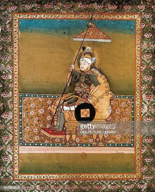 Timur founder of the Timurid dynasty miniatures from Smith manuscript 18th century Paris Bibliothèque Nationale De France