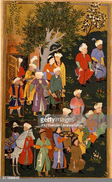 Timur granting audience on the occasion of his accession from Zafarnama or Book of Victory the biography of Timur known to the English world as...