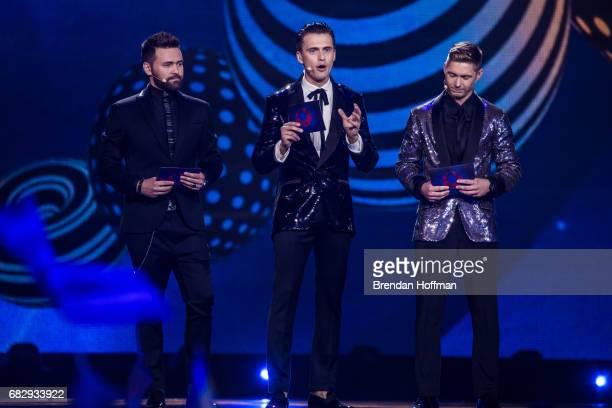 Timur Miroshnychenko Oleksandr Skichko and Volodymyr Ostapchuk host the Eurovision Grand Final on May 13 2017 in Kiev Ukraine Ukraine is the 62nd...