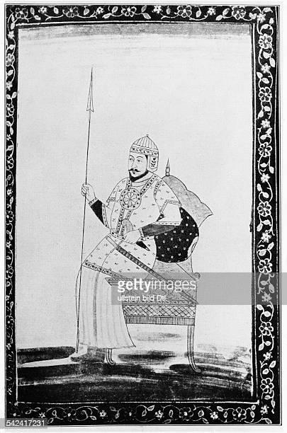 Timur Mongolischer Herrscher*13361405Porträt nach einer Miniatur der Bodleian Library Oxford