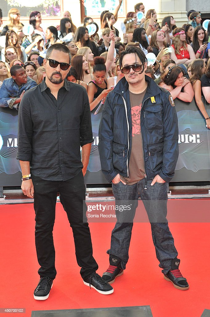 Timur Musabay and J. Lee Williams arrive at the 2014 MuchMusic Video Awards at MuchMusic HQ on June 15, 2014 in Toronto, Canada.