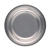 Lid or Base of Food Tin Can Isolated on White Background