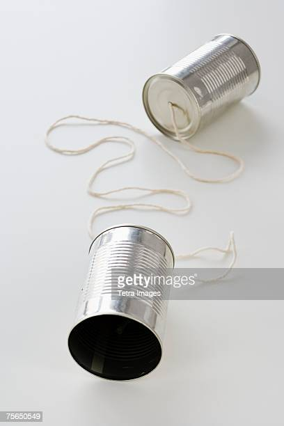 Tin cans connected by string